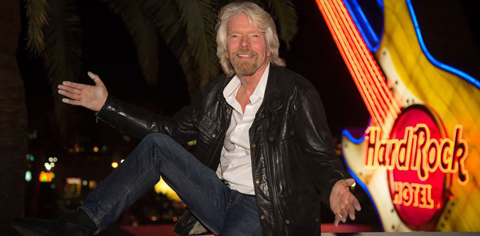 Branson and some of his partners are now the new proud owners of Las Vegas' Hard Rock Hotel and Casino.