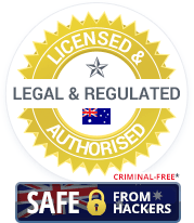 Licensed & Authorised, Legal & Regulated Australian Casinos. Criminal-Free and Safe from Hackers.