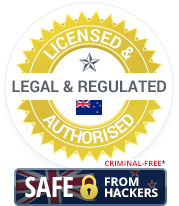 Licensed & Authorised, Legal & Regulated New Zealand Casinos. Criminal-Free and Safe from Hackers.