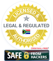 Licensed & Authorised, Legal & Regulated South Africa Casinos. Criminal-Free and Safe from Hackers.