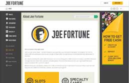 Joe Fortune Casino printscreen 2